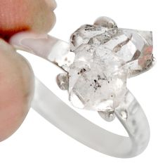 4.63cts natural white diamond 925 sterling silver tennis ring size 7 r1427