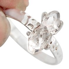 925 sterling silver 4.16cts natural white diamond tennis ring size 8 r1428