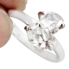 4.14cts natural white diamond 925 sterling silver tennis ring size 7 r1433