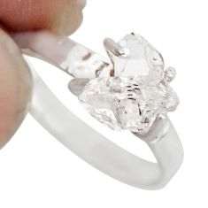 2.99cts natural white diamond 925 sterling silver tennis ring size 6 r1435