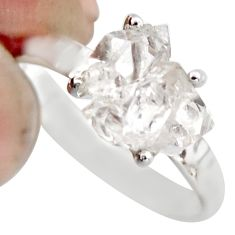 4.14cts natural white diamond 925 sterling silver tennis ring size 6 r1439