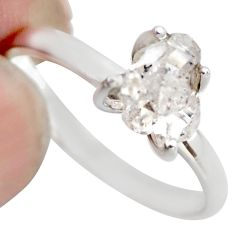3.58cts natural white diamond 925 sterling silver tennis ring size 8.5 r1440