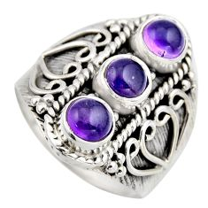 2.82cts natural purple amethyst 925 sterling silver ring jewelry size 8 r2030