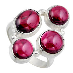 7.72cts natural red garnet 925 sterling silver ring jewelry size 7 r2172