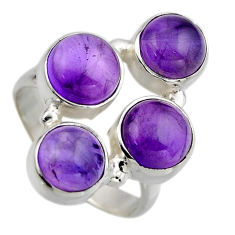 7.51cts natural purple amethyst 925 sterling silver ring jewelry size 8 r2183