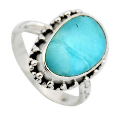 7.36cts natural blue larimar 925 silver solitaire ring jewelry size 7.5 r2698