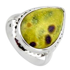14.12cts natural atlantisite stichtite-serpentine 925 silver ring size 9 r2724