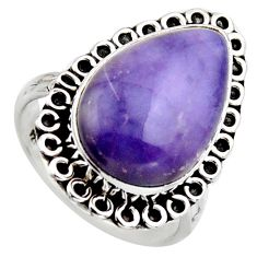 12.10cts natural purple tiffany stone 925 silver solitaire ring size 8 r2811