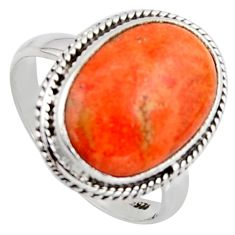 9.04cts red copper turquoise 925 sterling silver solitaire ring size 9 r2855