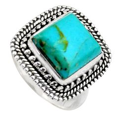 925 silver 5.75cts blue arizona mohave turquoise solitaire ring size 7 r3070