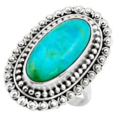 925 silver 11.22cts blue arizona mohave turquoise solitaire ring size 8.5 r3654