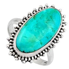 9.41cts blue arizona mohave turquoise 925 silver solitaire ring size 8.5 r3656
