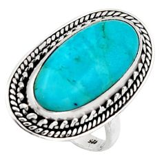 10.02cts blue arizona mohave turquoise 925 silver solitaire ring size 7 r3659