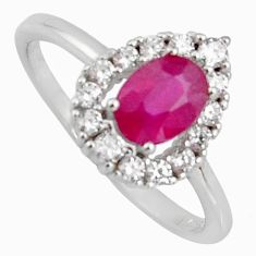 2.57cts natural red ruby cubic zirconia 925 sterling silver ring size 8 r3851