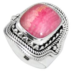 5.95cts natural rhodochrosite inca rose 925 silver solitaire ring size 7 r4133