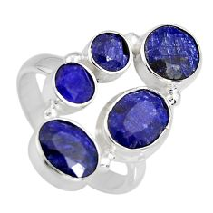 8.96cts natural blue sapphire 925 sterling silver ring jewelry size 8.5 r4452