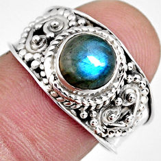 2.30cts natural blue labradorite 925 silver solitaire ring jewelry size 8 r4556