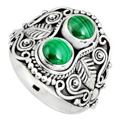 925 silver 2.36cts natural green malachite (pilot's stone) ring size 9 r4576