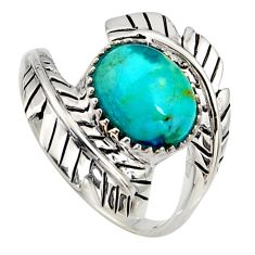 925 sterling silver 4.71cts green arizona mohave turquoise ring size 10 r5499