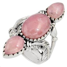 11.37cts natural strawberry quartz 925 sterling silver ring size 7 r5599