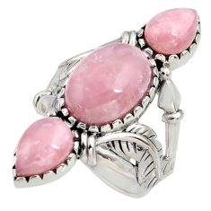 925 sterling silver 11.81cts natural strawberry quartz ring size 9 r5600