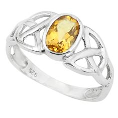 925 silver 1.43cts natural yellow citrine solitaire ring jewelry size 9 r5764