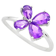2.21cts natural purple amethyst 925 sterling silver ring jewelry size 6.5 r5783