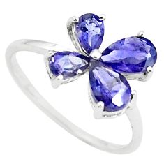 2.63cts natural blue iolite 925 sterling silver ring jewelry size 7.5 r5793