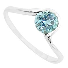 1.32cts natural blue topaz 925 sterling silver solitaire ring size 6 r5811
