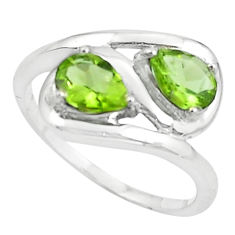 925 sterling silver 3.13cts natural green peridot ring jewelry size 8.5 r5888