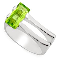 925 silver 2.41cts natural green peridot solitaire ring jewelry size 6.5 r6119