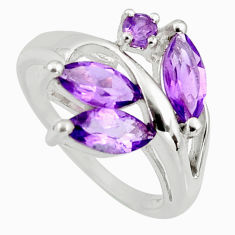 4.67cts natural purple amethyst 925 sterling silver ring jewelry size 6.5 r6201