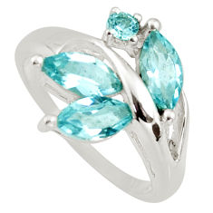 925 sterling silver 4.84cts natural blue topaz ring jewelry size 5.5 r6206