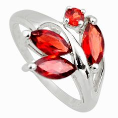 4.67cts natural red garnet 925 sterling silver ring jewelry size 6.5 r6212