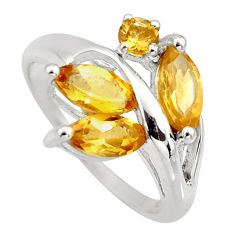 4.67cts natural yellow citrine 925 sterling silver ring jewelry size 8 r6216