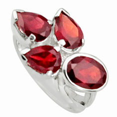 6.26cts natural red garnet 925 sterling silver ring jewelry size 6.5 r6258