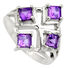 1.91cts natural purple amethyst 925 sterling silver ring jewelry size 7 r6342