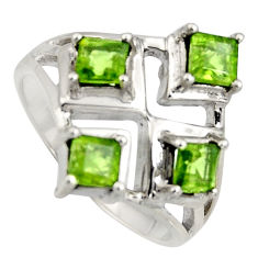1.99cts natural green peridot 925 sterling silver ring jewelry size 8 r6345
