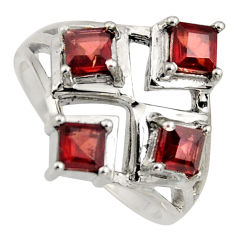 925 sterling silver 2.06cts natural red garnet ring jewelry size 8 r6352