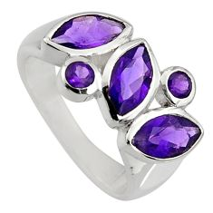 5.87cts natural purple amethyst 925 sterling silver ring jewelry size 8.5 r6427