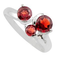 3.13cts natural red garnet 925 sterling silver ring jewelry size 9 r6449