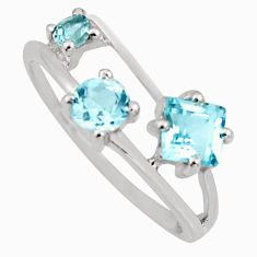 2.23cts natural blue topaz 925 sterling silver ring jewelry size 7.5 r6470