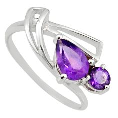 925 sterling silver 2.42cts natural purple amethyst ring jewelry size 8 r6472