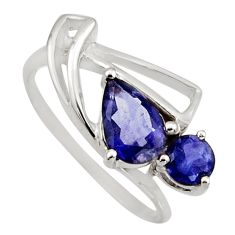 2.22cts natural blue iolite 925 sterling silver ring jewelry size 6 r6473