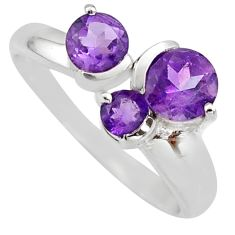 3.32cts natural purple amethyst 925 sterling silver ring jewelry size 7.5 r6475