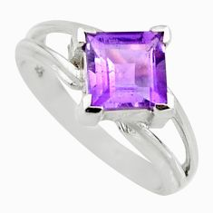 925 sterling silver 2.72cts natural purple amethyst solitaire ring size 6 r6479