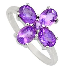 3.64cts natural purple amethyst 925 sterling silver ring jewelry size 6.5 r6481