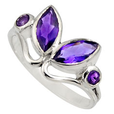 4.34cts natural purple amethyst 925 sterling silver ring jewelry size 9.5 r6562