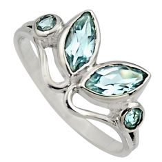 925 sterling silver 4.89cts natural blue topaz ring jewelry size 7 r6574