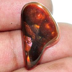 Natural 9.80cts mexican fire agate multicolor 23x13 mm loose gemstone s1125